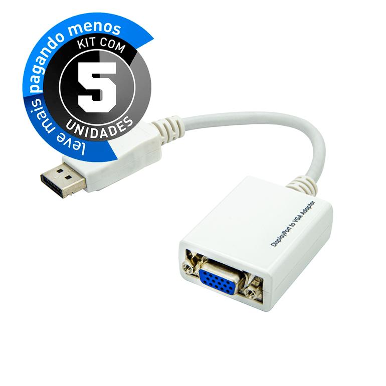 Cabo-Adaptador-Displayport-para-VGA-kit-com-5