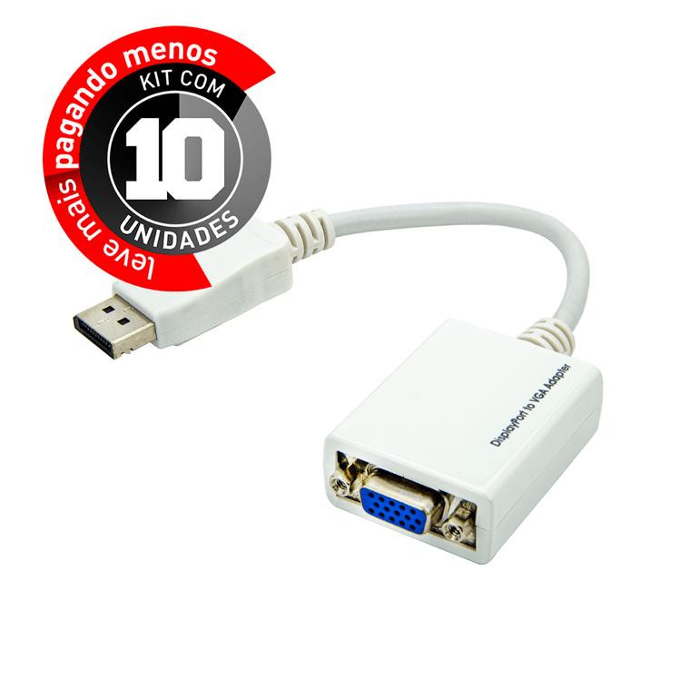 Cabo-Adaptador-Displayport-para-VGA-kit-com-10