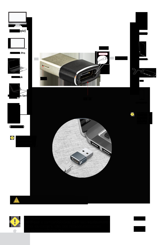 Adaptador USB 2.0 para USB Tipo-C